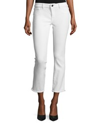 Dl Mara Instasculpt Ankle Straight Jeans Oakley White