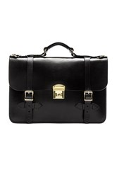 Filson Leather Field Satchel Black