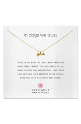 Dogeared In Dogs We Trust Pendant Necklace Gold