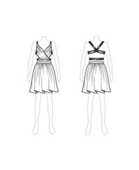 Customize Switch To Mini Skirt Fame And Partners Halter Mini Dress White