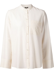 The Row Mandarin Collar Shirt White