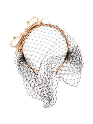 Red Valentino Embellished Net Hairband Neutrals