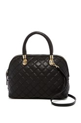 Cole Haan Benson Quilted Leather Dome Satchel Black