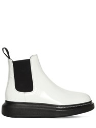 Alexander Mcqueen 40Mm Hybrid Leather Chelsea Boots White Black