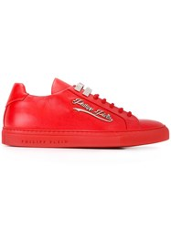 Philipp Plein Rams Sneakers Red