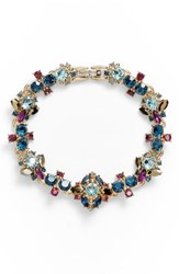 Marchesa Crystal Bracelet Blue Multi Gold