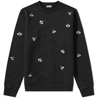 Christian Dior Homme X Kaws Bee Embroidered Crew Sweat Black