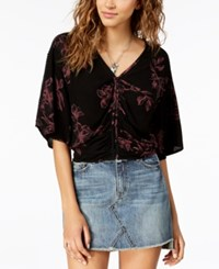 American Rag Juniors' Open Back Top Created For Macy's Black Combo