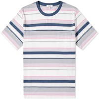Tres Bien Bold Stripe Boxy Tee Pink