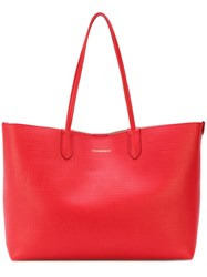 Alexander Mcqueen Medium Shopper Tote Women Leather One Size Red