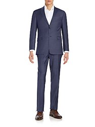 Tommy Hilfiger Regular Fit Wool Blend Suit Blue