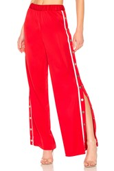 Lovers Friends Athletic Snap Track Pant Red