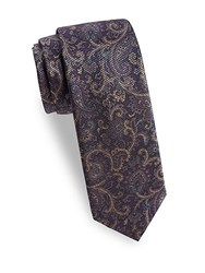 Saks Fifth Avenue Antique Paisley Tie Purple