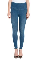 Lysse High Waist Denim Leggings Mid Wash