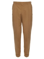 Paul Smith Cotton Pleated Front Trousers Beige