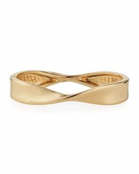 Lydell Nyc Twisted Hinged Bangle Bracelet Gold