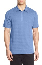 Men's Gramicci 'Drake' Stripe Polo River Blue