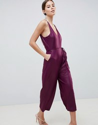 Ax Paris Culotte Jumpsuit Purple
