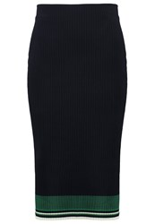 Scotch And Soda Pencil Skirt Dark Blue Green