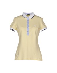 Fred Perry Topwear Polo Shirts Women Light Yellow
