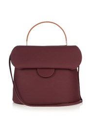 Roksanda Ilincic Front Flap Leather Bag Burgundy