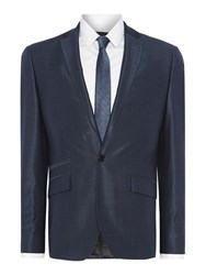 Kenneth Cole Pinsent Tonic Silk Suit Jacket With Jet Pockets Petrol