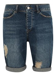 Antioch Blue Ripped Denim Shorts
