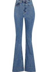 Solace London Hettie High Rise Flared Jeans Mid Denim