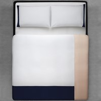 Calvin Klein Mary Duvet Cover White Navy