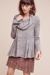 Anthropologie Cowled Maurisa Top Dark Grey