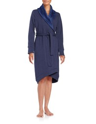 Ugg Heathered Shawl Collar Robe Navy