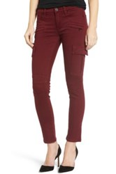 Hudson Jeans Colby Ankle Skinny Cargo Pant Red