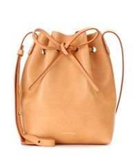 Mansur Gavriel Mini Bucket Leather Crossbody Bag Brown