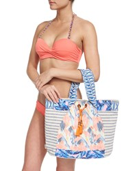 Multi Print Beach Tote Bag Women's Multi Maaji