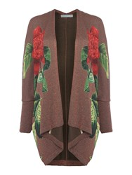 Desigual Swater Jacket Tricolour Green