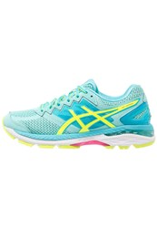 Asics Gt2000 4 Stabilty Running Shoes Aruba Blue Safety Yellow Aquarium Mint