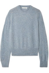 The Row Minco Cashmere And Silk Blend Sweater Light Blue