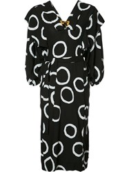 Vivienne Westwood Anglomania Printed Belt Dress Black