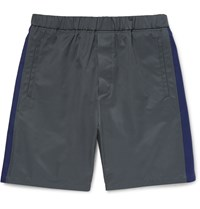 Marni Cotton Blend Shorts Gray