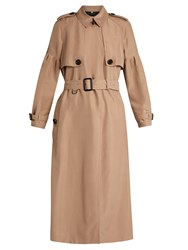 Burberry Maythorne Mulberry Silk Trench Coat Nude