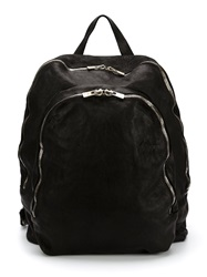 Guidi Double Zip Backpack Black