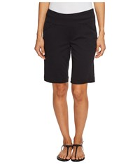 Jag Jeans Petite Ainsley Pull On Classic Fit Bermuda Bay Twill Black Women's Shorts
