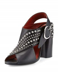 3.1 Phillip Lim Patsy Studded Leather Crisscross Sandal Black
