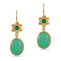 Emma Chapman Jewels Byzantine Star Chrysoprase Earrings Green