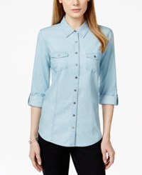 Styleandco. Style And Co. Two Pocket Button Down Denim Shirt Only At Macy's