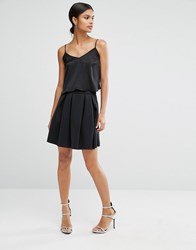 Asos Mini Prom Skirt In Scuba Black