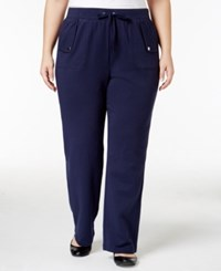 Karen Scott Plus Size Lounge Pants Only At Macy's Intrepid Blue