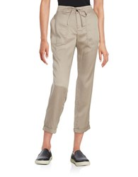 Lord And Taylor Drawstring Pants Smoke