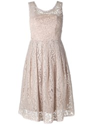Martha Medeiros Lace Dress Women Cotton Polyamide Viscose 38 Beige