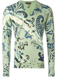 Etro Floral Paisley Print Jumper Green
